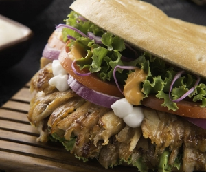 Döner Kebab Sandwiches, Doner Kebab sandwich, Doener koenner sandwich, Chicken or Veal  Doner Kebab Meal, Mix, Salad, Fries, cairo.
